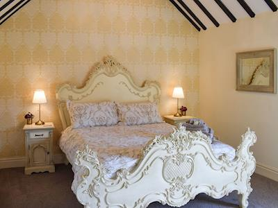 Romantic and inviting double bedroom | Cherry Cottage - Hill House Farm Cottages, Little Langton, near Northallerton