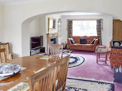 Light and airy living and dining room | Glebe Farm Cottage, Hornby