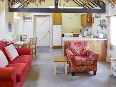 Light and airy open-plan living space | Willow Cottage - Hill House Farm Cottages, Little Langton, near Northallerton