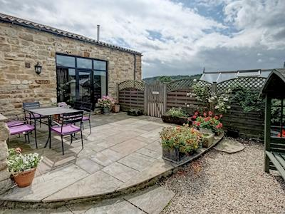 Large, enclosed courtyard with garden furniture and BBQ | The Dairy, Beck Hole, near Goathland