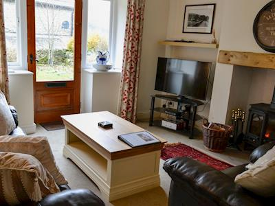 Cosy living room with wood burner | Dale Head Cottage - Dale View and Dale Head Cottages, Buckden, near Skipton