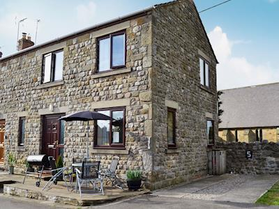 Traditional stone-built end of terrace cottage | Woodside Cottage, Grewelthorpe, near Masham